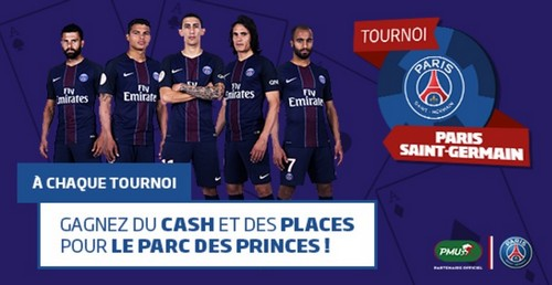 Les tournois Paris Saint-Germain sur PMU Poker