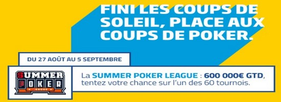 600.000€ garantis pour la Summer Poker League de PMU.fr